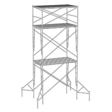 建設足場の漫画イラスト 写真素材 - 27073712
