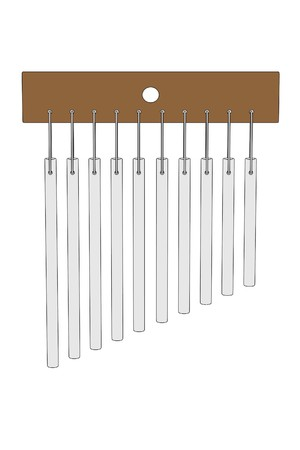 wind chimes: cartoon image of wind chimes