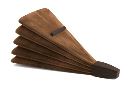 bellows: realistic 3d render of blacksmith bellows
