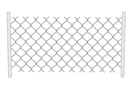 chain fence: cartoon image of chain fence