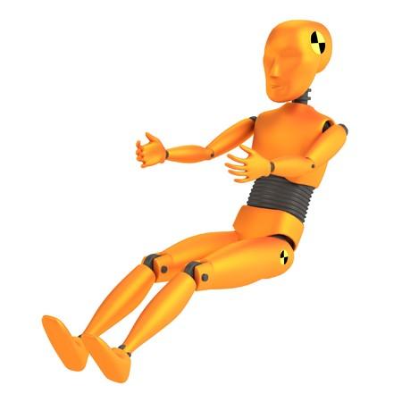 realistic 3d render of crash dummy - child photo