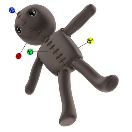 Voodoo doll: realistic 3d render of voodoo doll