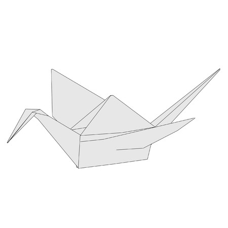 cartoon image of origami animal photo