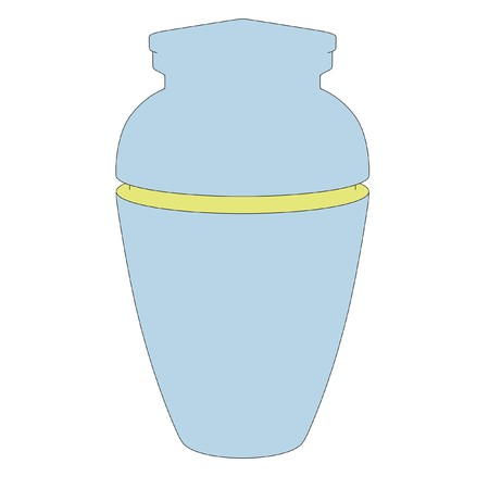 ashes: cartoon illustration of urn for ashes Stock Photo
