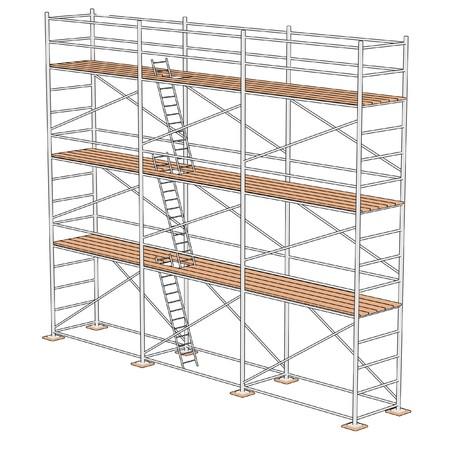 建設足場の漫画イラスト 写真素材 - 27207869