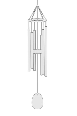 chimes: cartoon image of wind chimes