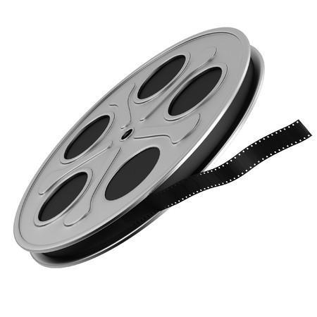 realistic 3d render of film reel photo