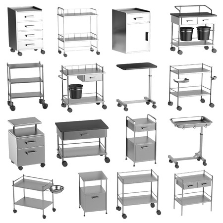 pacient: realistic 3d render of medical tables