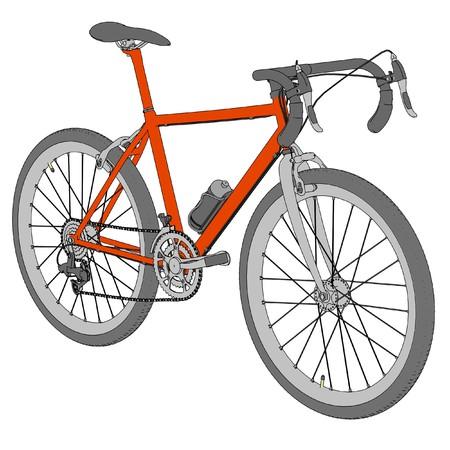 racing bike: cartoon image of racing bike Stock Photo