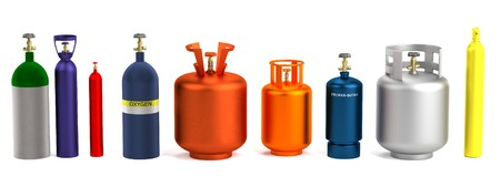 oxygene: realistic 3d render of gas cans