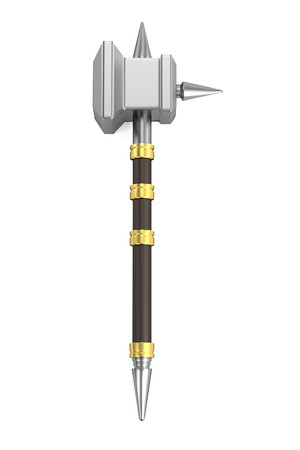 warhammer: realistic 3d render of hammer
