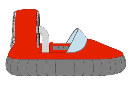 hover: cartoon image of hover craft