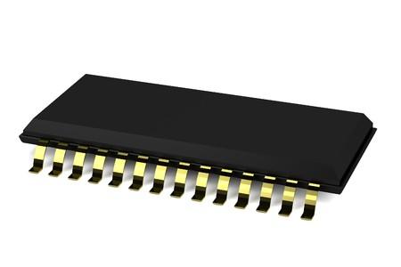 realistic 3d render of chip 版權商用圖片