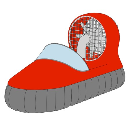 cartoon image of hover craft