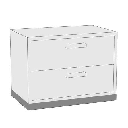 saline: cartoon image of medical cupboard Stock Photo