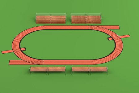 excercise: realistic 3d render of running track