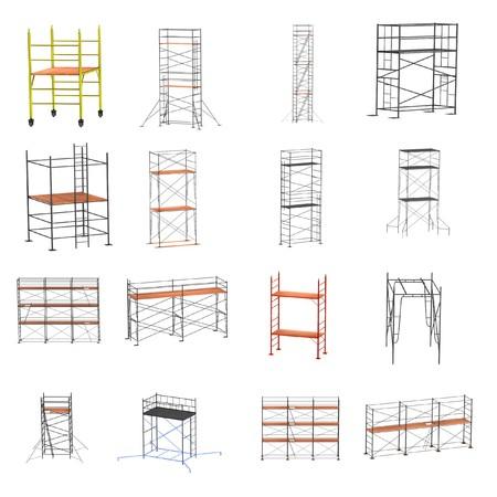 scaffolds: realistic 3d render of scaffolding set