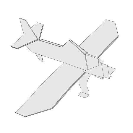 cartoon image of origami plane photo