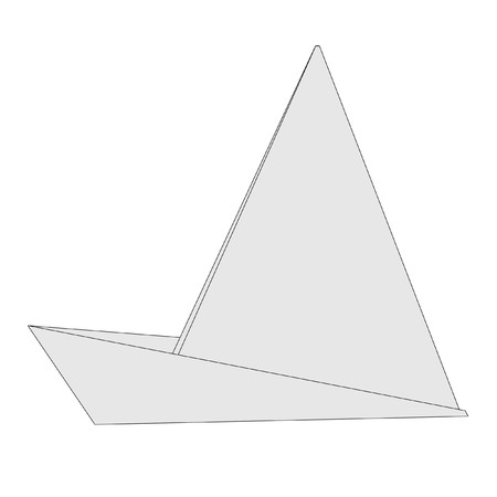 cartoon image of origami ship photo