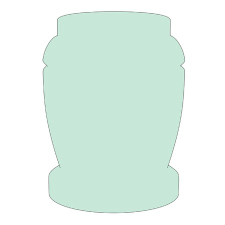 2d: cartoon illustration of urn for ashes Stock Photo