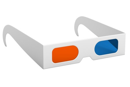 stereoscopic: realistic 3d render of stereoscopic glasses