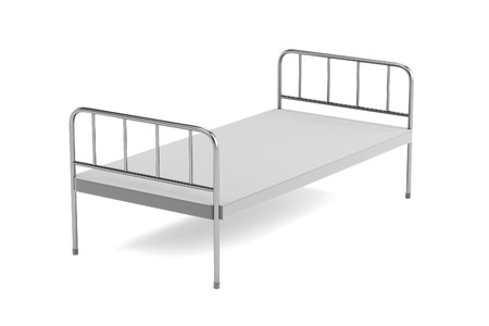 realistic 3d render of medical bed photo