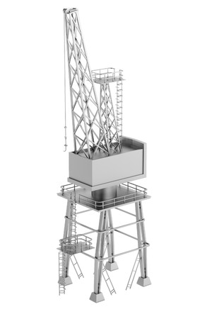 realistic 3d render of crane photo