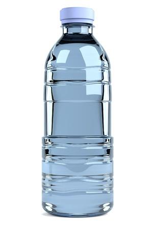 render 3D realista de la botella