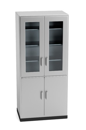 realistic 3d render of medical cabinet photo