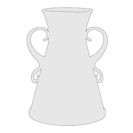 antique vase: cartoon image of antique vase