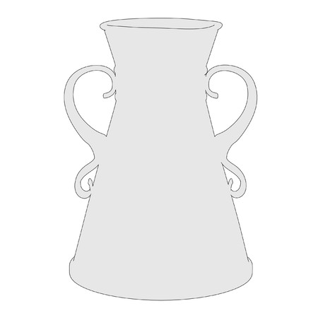 vase antique: image de bande dessin�e de vase antique