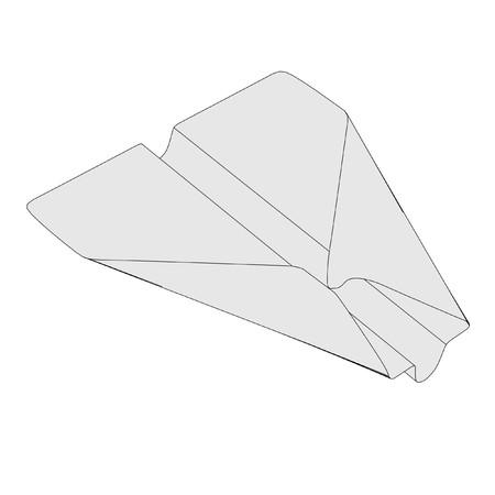 cartoon image of origami plane photo