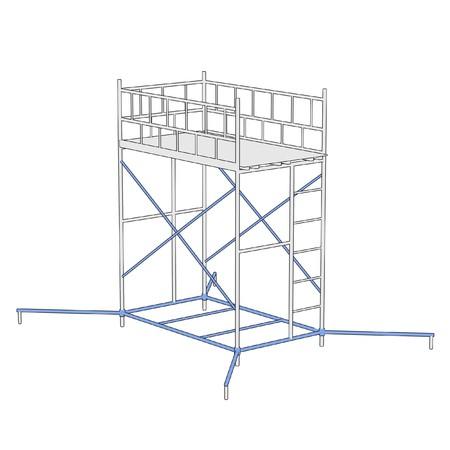 建設足場の漫画イラスト 写真素材 - 27504205