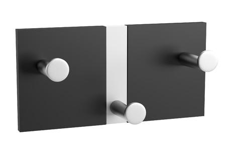 coat rack: realistic 3d render of clothes rack
