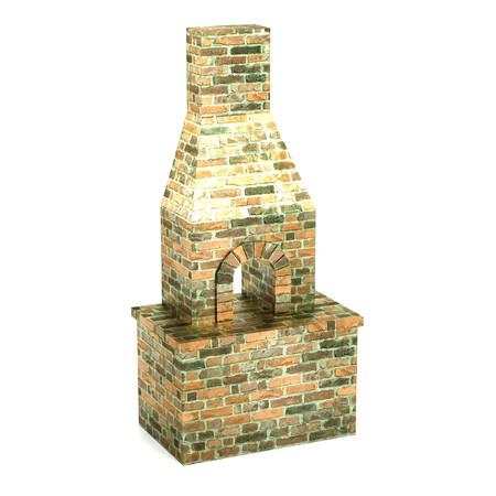 furnace: realistic 3d render of blacksmith furnace