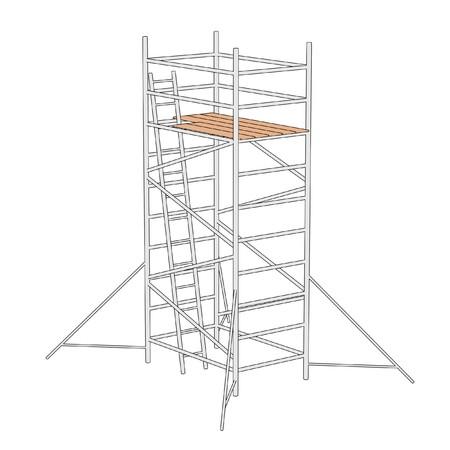 建設足場の漫画イラスト 写真素材 - 27542474