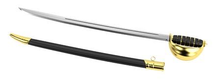 sabre: realistic 3d render of sabre