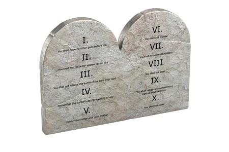 realistic 3d render of ten commandments photo