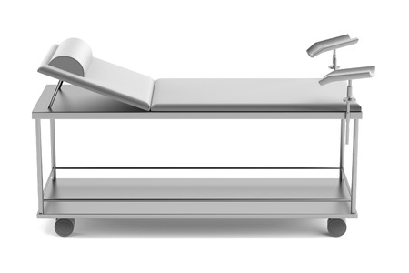 pacient: realistic 3d render of medical bed Stock Photo