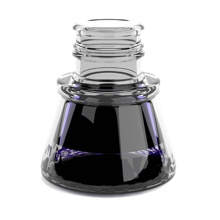 inkpot: realistic 3d render of inkpot Stock Photo