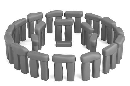 stonehenge: realistic 3d render of stonehenge