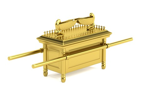 covenant: realistic 3d render of ark of the covenant