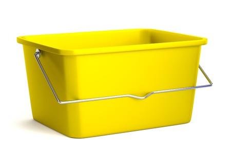 cartoon wood bucket: realistic 3d render of bucket