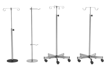 pacient: realistic 3d render of saline stands Stock Photo