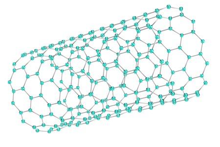 nanotube: realistic 3d render of nanotube