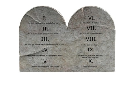 realistic 3d render of ten commandments photo