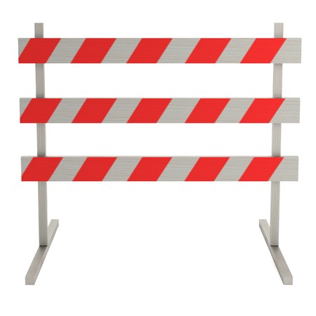 constrution site: realistic 3d render of traffic barrier