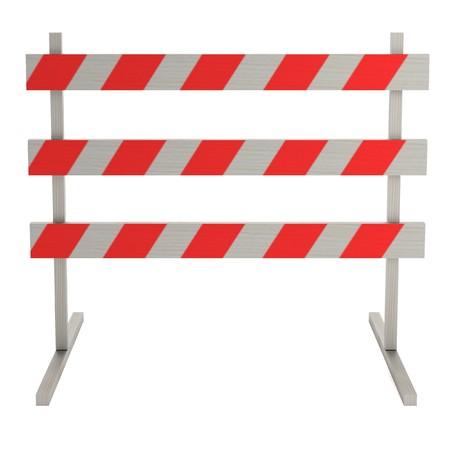 constrution: realistic 3d render of traffic barrier