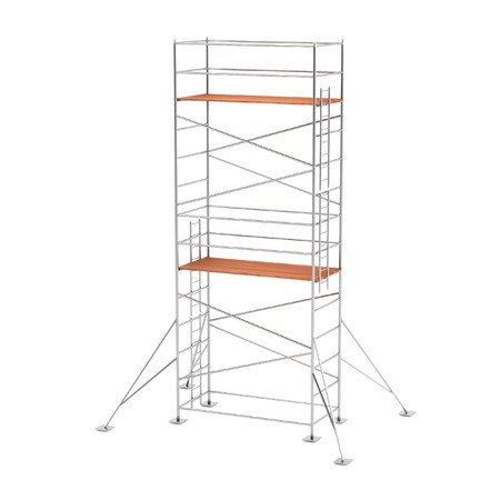 scaffolds: realistic 3d render of scaffolding Stock Photo