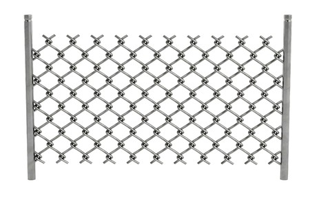 chain fence: realistic 3d render of chain fence